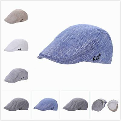 Cotton Gatsby Cap Men Ivy Hat Golf Driving Summer Casual Sun Flat Cabbie Newsboy