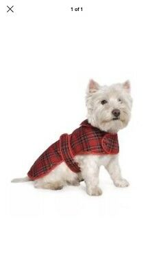 Ancol  Muddy Paws Highland Red Tartan Coat Small