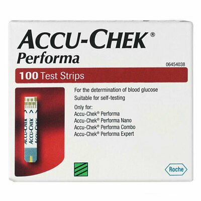 Accu-Chek Performa 100 Test Strips For Blood Glucose Testing Nano Connect Expert