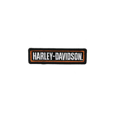 SMALL Harley Davidson ORANGE BADGE Patch