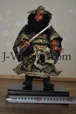 Antique Demon Queller SHOKI Fierce Warrior Japanese SAMURAI Doll NINGYO