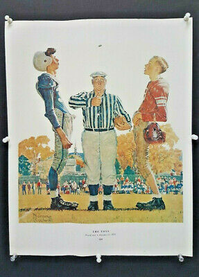 "Norman Rockwell print ""THE TOSS"" & PRACTICE "" 2 SIDED PRINT 11"" x 15"""