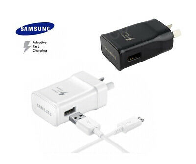 Samsung Galaxy Adaptive Fast USB Wall Charger Note S 5 6 7 8 9 10 Plus 2m Cable