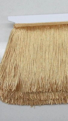Light Golden Caramel 15cm Braid Trim Tassel Fringe DIY Craft Price per 30cm