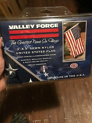 New 3x5 FT VALLEY FORGE US NYLON AMERICAN FLAG Sewn Stripes Embroidered Stars