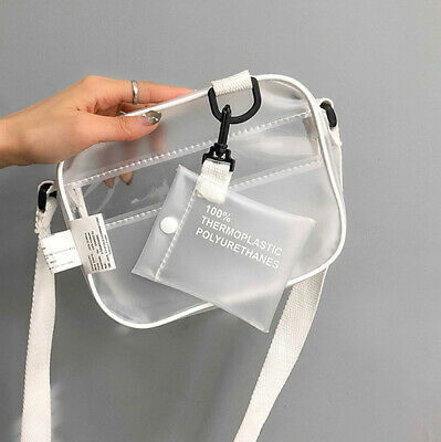 Women Clear Tote Bag PVC Handbag Shoulder Transparent Beach Clutch Purse