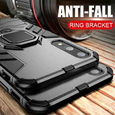 Shockproof Armor Magnetic Ring Holder Case for Huawei P30 Pro/Lite P Smart Cover