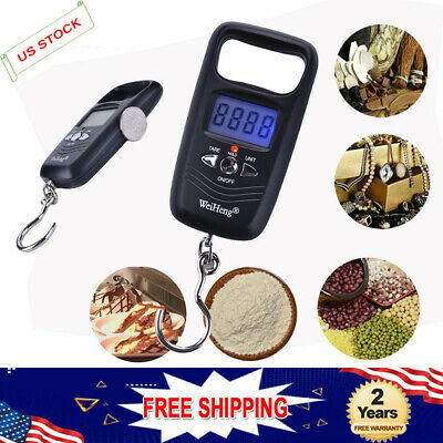 Portable 50KG Double High Precision Digital Electronic Hook Pocket Scale US