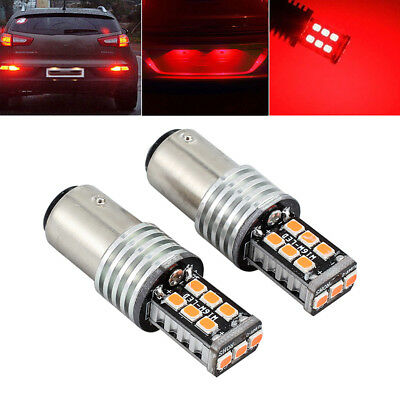 Dc 12v Bay15d 1157 Canbus P21/5w Voiture 15 Led Frein Tige Feux Stop 2835 Rouge