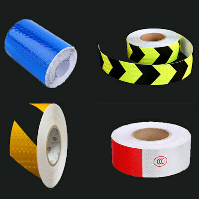 1m Car Truck Reflective Safety Warning Self Adhesive Tape Film Sticker Traffic
