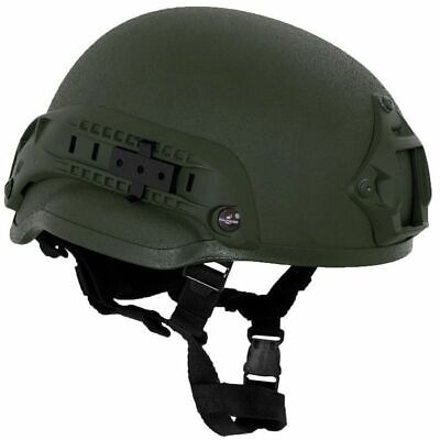 MFH Casco MICH 2002 ABS Táctico Militar Paintball Airsoft Olive