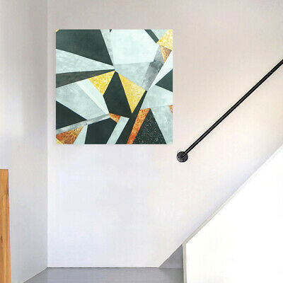 Abstract Rhombus Hand Painted Art Canvas Oil Painting Modern Home Decor - Framed