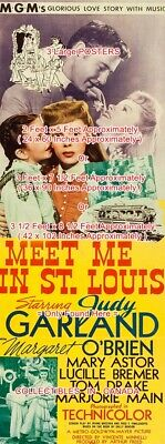 MEET ME IN ST. LOUIS 1944 Judy Garland = POSTER 3 Sizes = 5 Ft - 7 Ft - 8.5 Ft
