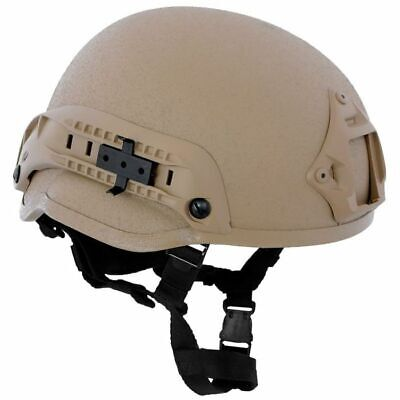 MFH Casco MICH 2002 ABS Táctico Militar Paintball Airsoft Coyote