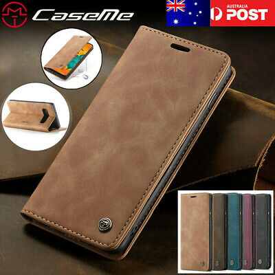 For Samsung Galaxy S10 5G S9 S8 Plus S7 Magnetic Stand Leather Wallet Case Cover