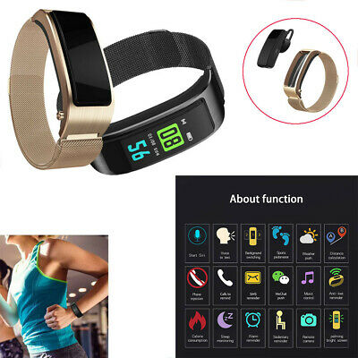 2-in-1 Bluetooth Smart Watch Bracelet Multifunctional Wristband With Headset