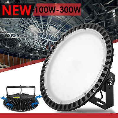 100W- 300W Slim LED High Bay Light Fixture Warehouse Industrial Factory Shed Gym