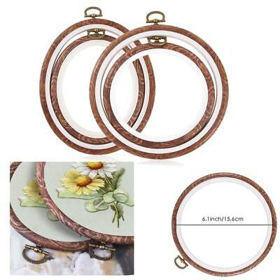4-Sizes Embroidery Circle Cross Stich Hoops Bamboo Ring Frame Wooden Round Au