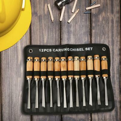 12pcs Practical Hand Wood Engraving Chisels Knife  Carving Sculpture Tool Set