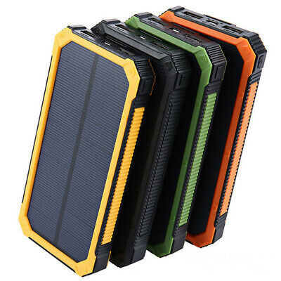 Portable LED Solar Dual USB Battery Charger Case DIY For Cellphone Power Bank