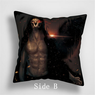 Reaper Overwatch Anime Manga two sides Pillow Cushion Case Cover 861 A