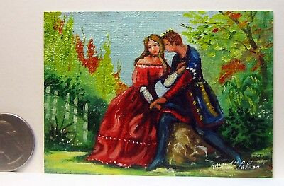 My Prince Charming  ACEO miniature Oil Painting by Amando LaVann