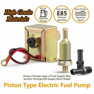 Electric Fuel Pump Solid State 2.5 to 4psi 90 LPH Petrol Facet Universal 12volt