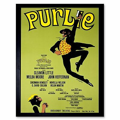 Advert Theatre Stage Musical Purlie Jim Crow 12X16 Inch Framed Art Print