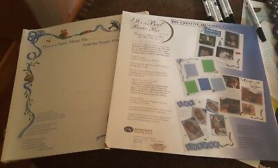 Creative Memories 12 x 12 Baby boy pages refill pages 2 packs