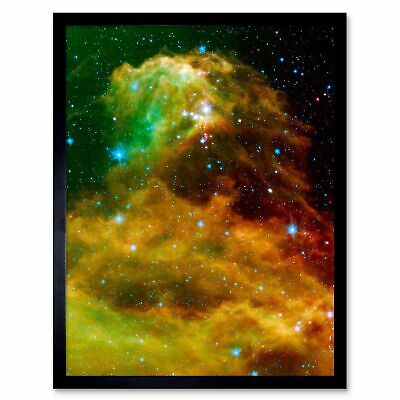 MAN BEFORE KEYHOLE SURREAL ABSTRACT SPACE NEBULA GALAXY ART PRINT POSTER BMP561A