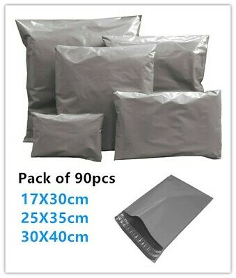 90 Strong Mixed Mailing Postage Bags Post Mail Poly Bag Postal Self Seal Plastic