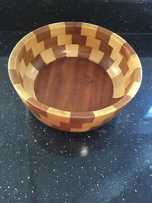 Vintage Cambridge Ware Wooden Bowl