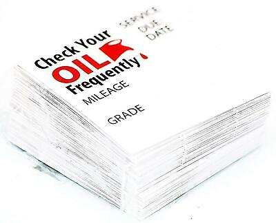 Oil Change Stickers Static Cling 100 Box Reminder Service