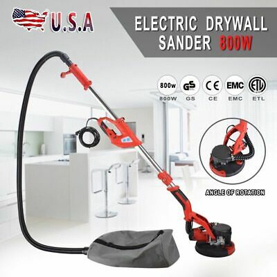 Electric Drywall Sander Adjustable Variable Speed with Vacuum and LED Light 800W