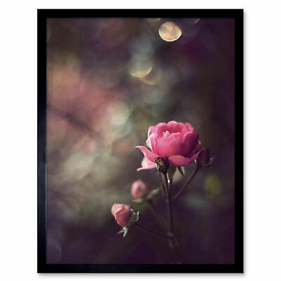 STUNNING VINTAGE CHIC STYLED ROSE FLOWER BOUQUET CANVAS PICTURE PRINT #3005