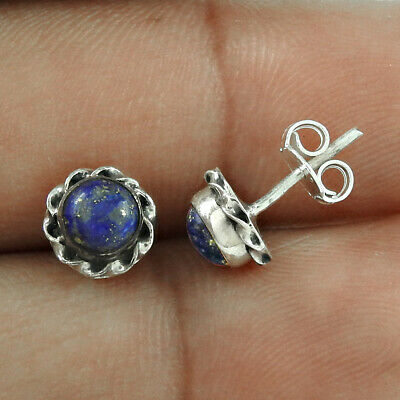 Jewelry & Watches Lapis Lazuli Pure 925 Sterling Silver Indian Traditional Jewelry Earring Rv896 Low Price