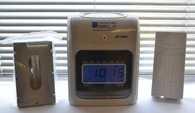 2020 Model Time Recorder Clocking in Clock Machine with Time Cards & Card Rack