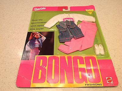 Vintage Barbie NIP Clothes Outfit 1992 Bongo Fashions Mattel Pink and White