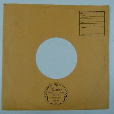 """10"""" 78rpm gramophone record paper sleeve NAUCK`S VINTAGE RECORDS , SPRING TEXAS"""