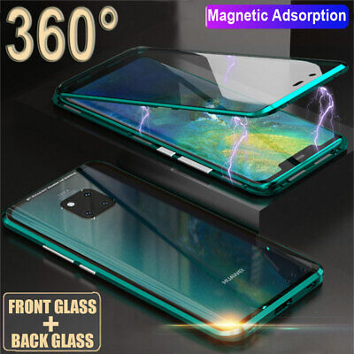 360° Magnetic Adsorption Double Side Glass Case for Huawei Mate 20/P20 Pro Cover