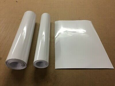 Gloss White Sticky Back Vinyl Cutting Crafts Wallart Roll 300mm wide