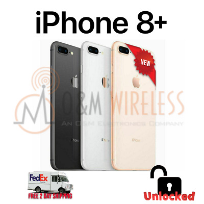 NEW Apple iPhone 8 Plus 64GB 128GB 256GB (A1897, Factory Unlocked) - All Colors