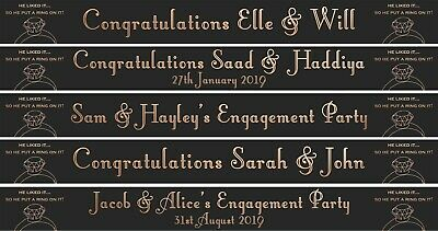 Rose Gold PERSONALISED ENGAGEMENT BANNER Put a ring on it Party Decoration
