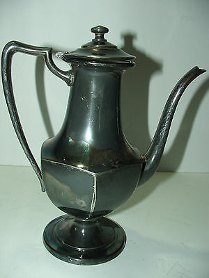 "P.S.Co. silverplated teapot/tea server 8 3/4"" tall"