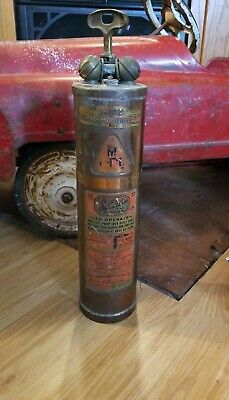 Vintage Wilbur Pump Fire Extinguisher Copper Br Look
