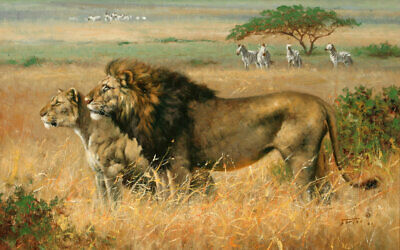 Modern HD Print Painting on Canvas Wall Art Animal lion Wall Picture Home Decor