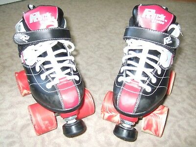 ROCK GT-50 EXPRESSION Roller Skates Size 5 Black Red Jam Speed SureGrip Youth