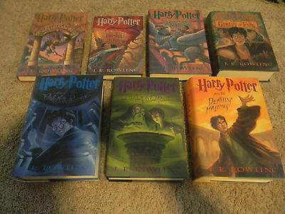Harry Potter 1-7 Books, Complete Book Series, Vg-Great Shape