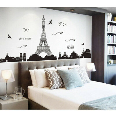 Removable Paris Eiffel Tower Art Decal Wall Sticker Mural DIY BedroomsHome Decor