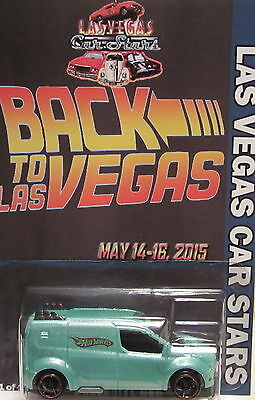 Hot Wheels CUSTOM FORD TRANSIT CONNECT 2015 LAS VEGAS CAR STARS 1 of 1 Made!